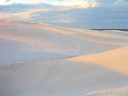 Lancelin's sand dunes, Western Australia.