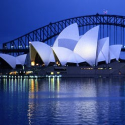 The picturesque Sydney Opera House.