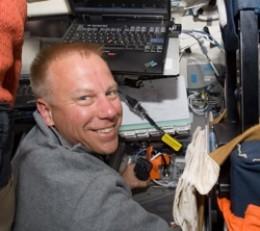 Astronaut Tim Kopra in space.