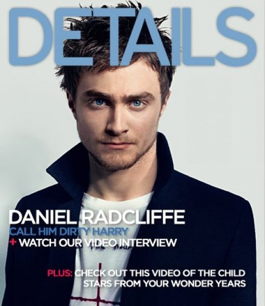 Daniel Radcliffe on the cover of Details Magazine.
