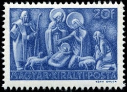 Hungary was the first country to release a Christmas stamp specifically for adorning holiday mailings.