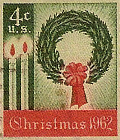 The first US Christmas stamp was issued in 1962.