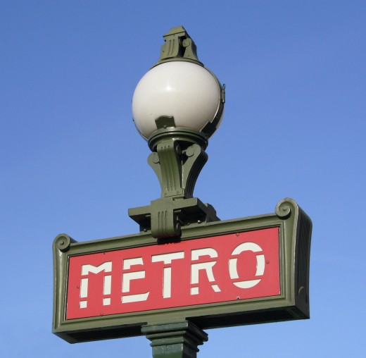 The metro is part of daily Paris life.