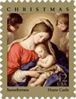 2009 Madonna and Child stamp