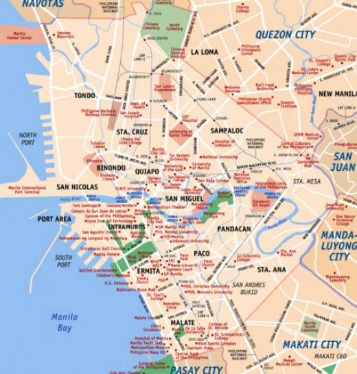 Map of Manila City