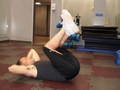 The Reverse Crunch up position
