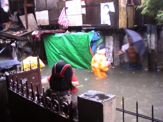 Flashfloods in Baclaran, Paranaque City, Philippines (Sept. 26, 2009)