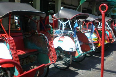 Yogjakartan pedicabs