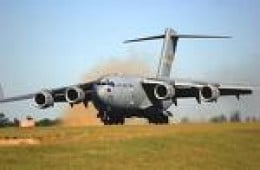 This big transport plane means our guys and gals are coming or going..always pray when you see it in the air.