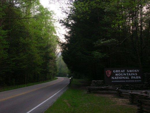 Entrance To The Great Smoky Mountains National Park From Gatlinburg