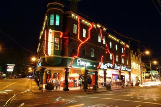 Ripley's Believe It Or Not At Night In Downtown Gatlinburg.