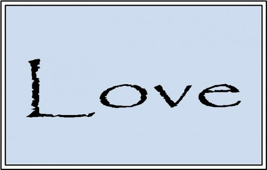 Love black boarder