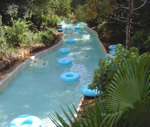 Cross Country Creek, the lazy river at Disney's Blizzard Beach