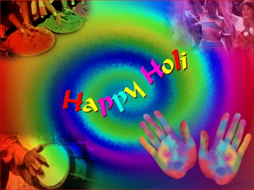 The Holi atmosphere