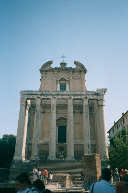 Temple in The Forum Area of Rome.