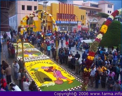 Flower carpets in Tarma