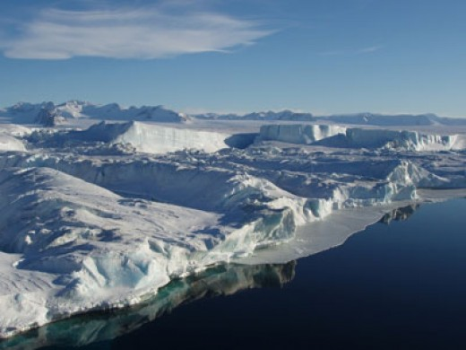 iN PLACES WITH LESS SUNLIGHT, SUCH ICE SHEETS ARE NATURAL