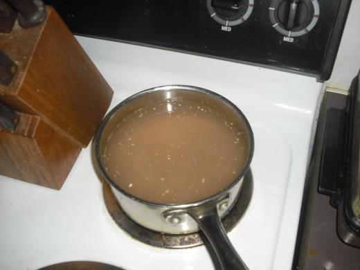 boiling acorns