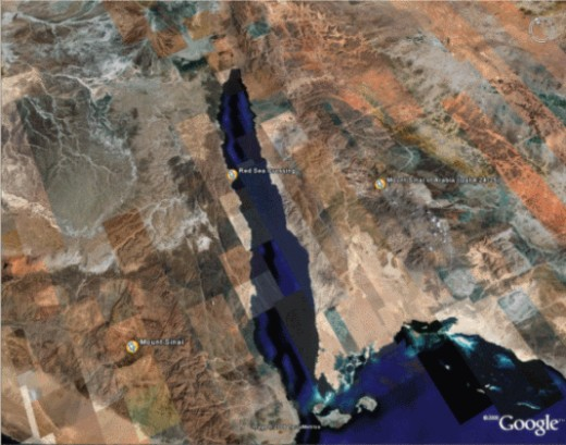 Satellite view of Sinai
