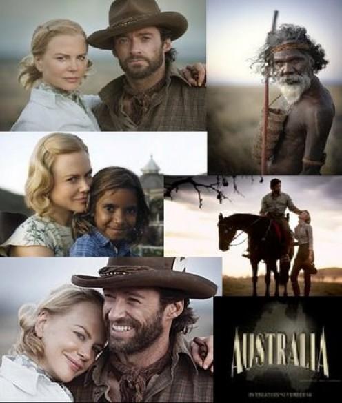 "Scene collage from the movie ""Australia"""