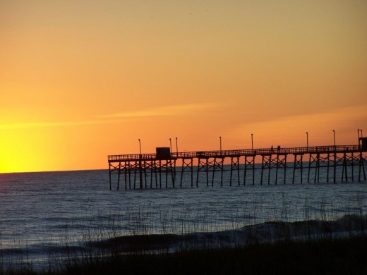 Oak Island North Carolina Fishing Pier