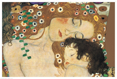 Mother and Child (detail from The Three Ages of Woman) c.1905  Gustav Klimt