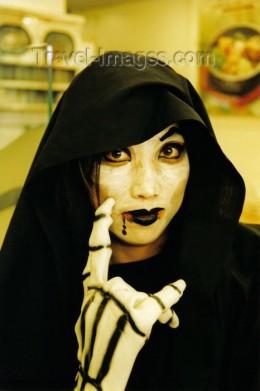 Korean girl in Halloween costume