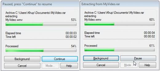 Repair WinRar/Winzip process screenshot