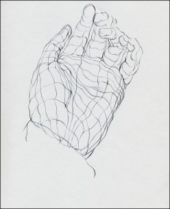 Example of a cross contour drawing.