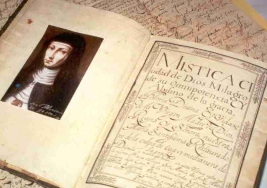 The Reverend Mother Maria de Jesus de Agreda was a well educated and accomplished woman having written scholarly books as well as advising King Philip IV of Spain in over 600 letters sent from behind the walls of her convent.