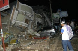 Ambacang Hotel after earth quake