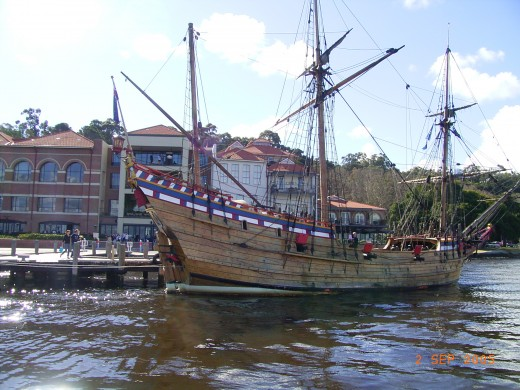 A pirate ship from Thailand on the Swan River