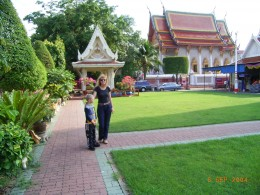 In the public park in Bangkok. Avoiding confrontation is a core element of Budhist Philosophy. The numerous parks with massage parlours offering Indian medicine and Chinese acupuncture help to restore between body and mind, restore peace and calmness