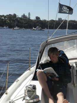 Reading 'Mao's Last Dancer' autobiography by Li Cunxin on our last sailing trip.
