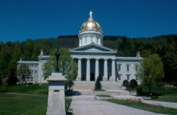 The quaint little state house in Montpelier, Vermont.