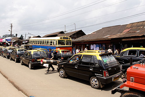 The Traffic Station at Police Bazaar in Shillong.