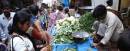 An open market in Shillong Area.