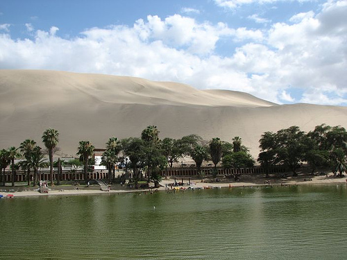 Huacachina, an oasis in the Peruvian desert