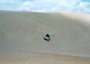 The huge sand dunes in Natal are great fun.