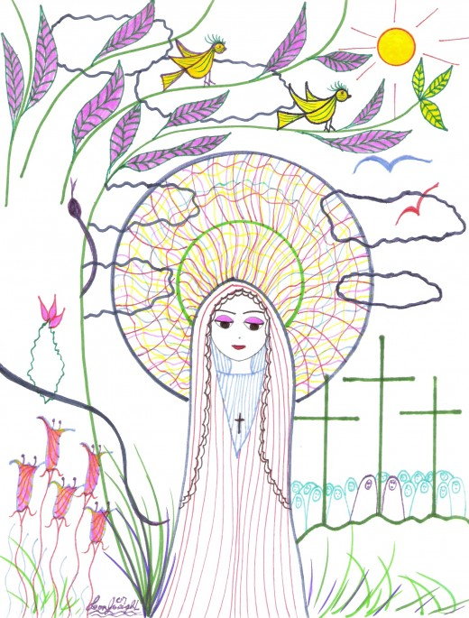 My drawing. the Mother of God. GBY