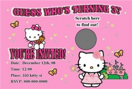 Hello Kitty Scratch Off Party Invitation Sold on Ebay from; PERSONALIZED PARTIES EXPRESS