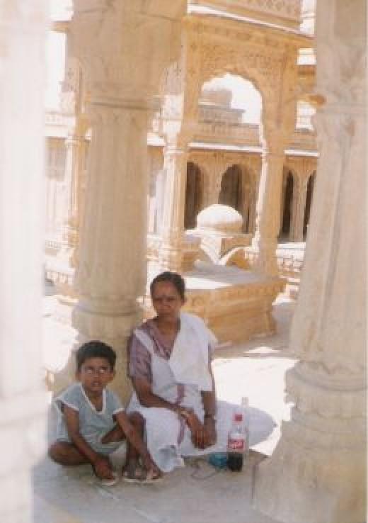 One of many tombs at Bara-Bagh at Jaisalmer,in Rajasthan