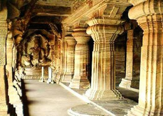 One of the cave temples at Badami