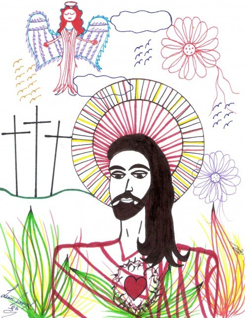 My Drawing Of Our Lord God. God Bless You.