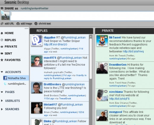 Seesmic windows Twitter client