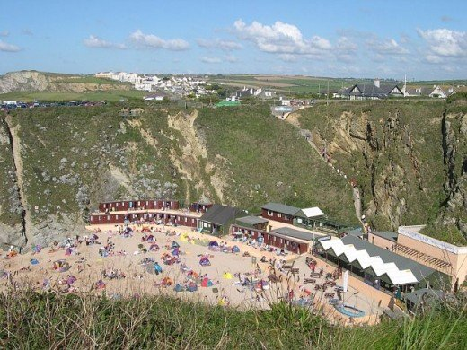 Newquay Beaches, Cornwall: Lusty Glaze Beach