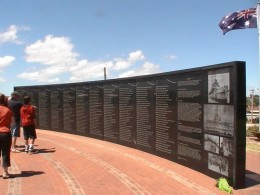 Left wall of rememberance