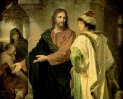 """Christ and the Rich Young Ruler,"" painting by Heinrich Hofmann"