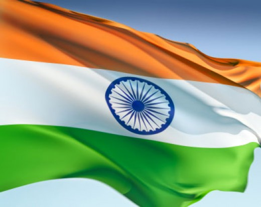 The indian tricolour flag,makes us proud