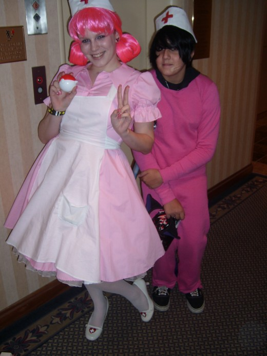 Nurse Joy and a Chancey? from Pokemon